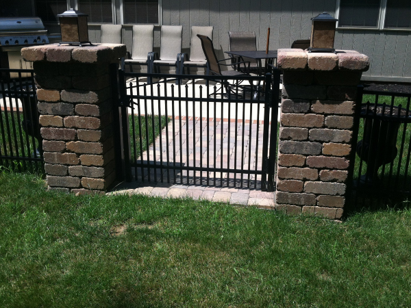 paver column wall fence