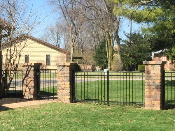 stone and metal fencing