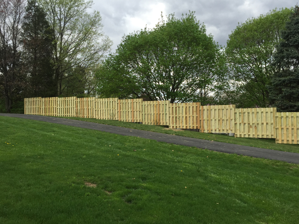 paver wall fence