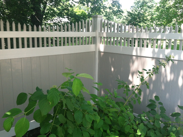 white wall fence