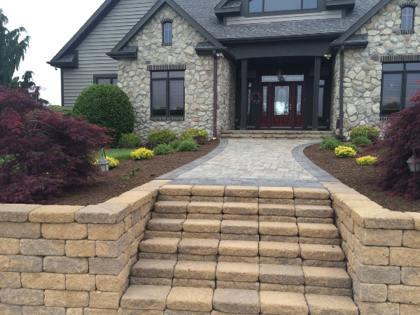patio pavers, steps