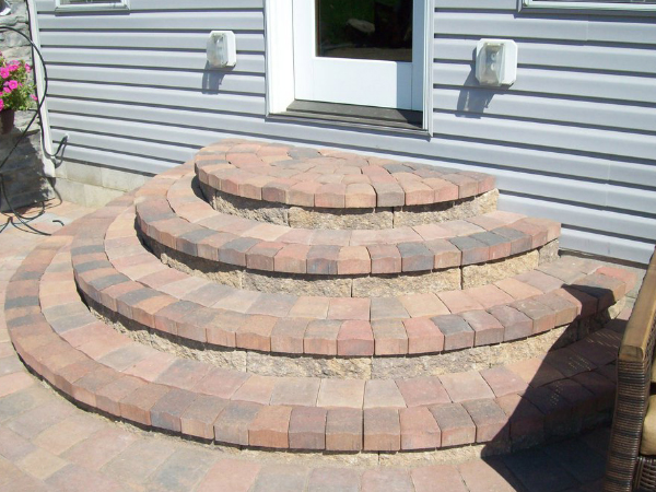 patio pavers, stairs